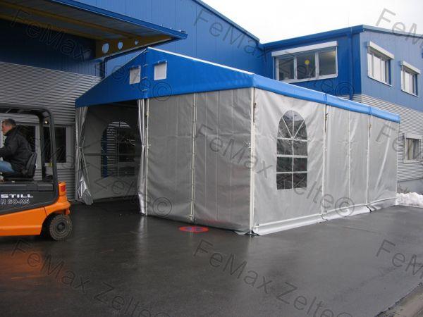FeMax Zelthalle / Lagerzelt - beplant - 6x12m