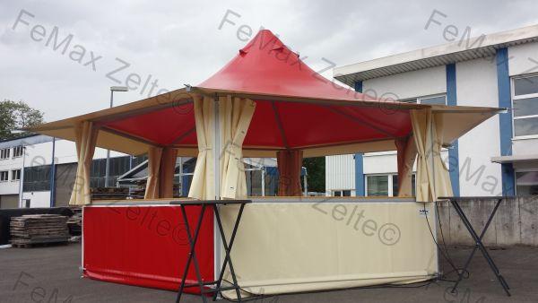 FeMax 6eck Verkaufsstand / Pagode 23,4m²