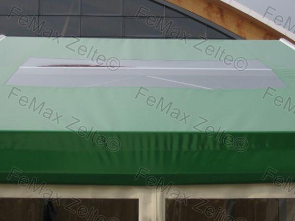 Dachplane für Zeltsystem Alpha, mit Dachfenster, 8,00 x 3,00 m