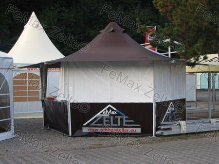 FeMax 6eck Verkaufsstand / Pagode 10,5m²